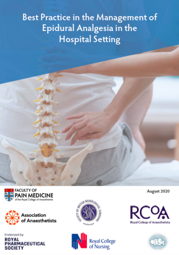 Cover image for the 2020 edition of Best practice in the management of epidural analgesia